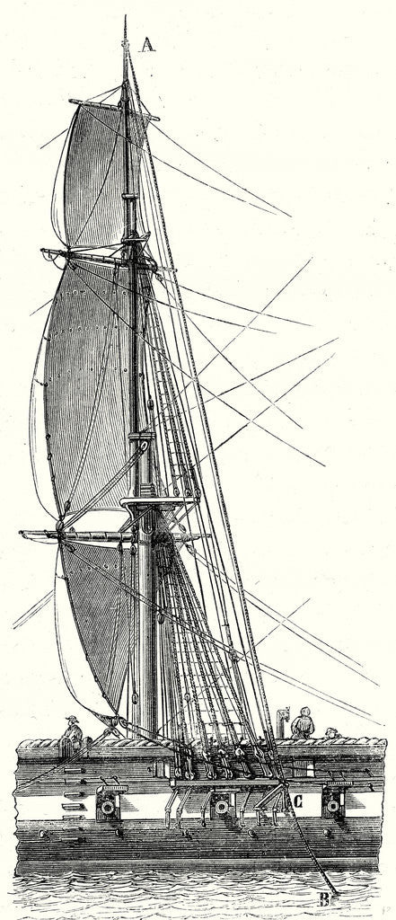 Detail of A French Ship's Lightning Rod by Anonymous