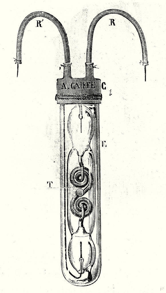 Detail of Electric Lantern of Miners by Anonymous