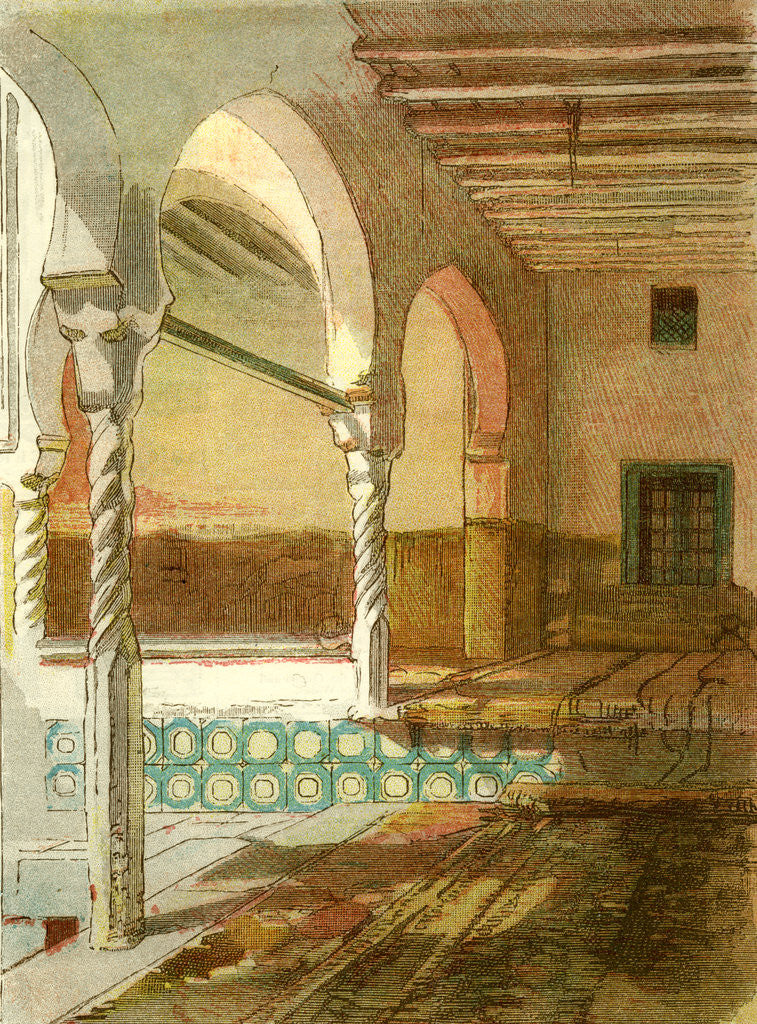 Detail of Interior of Mosque at Casbah 1885 Algiers by Anonymous