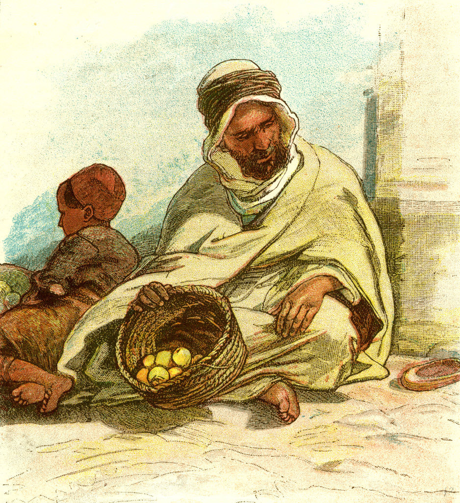 Detail of Kabyle Selling Lemons Algiers 1885 by Anonymous