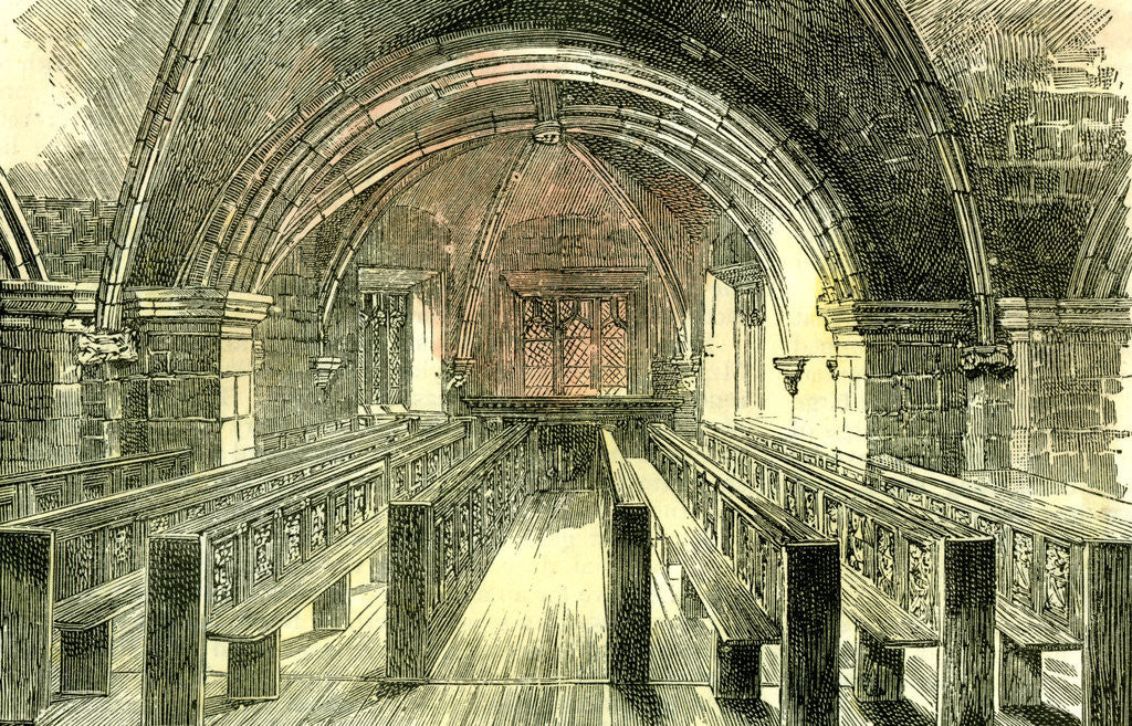 Detail of Aberdeen East Church the Crypt 1885 UK by Anonymous