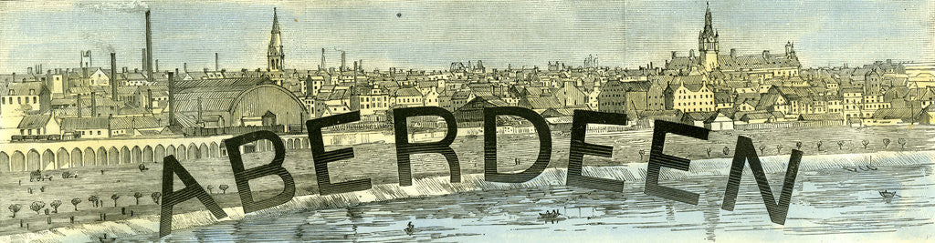 Detail of Aberdeen 1885 UK by Anonymous