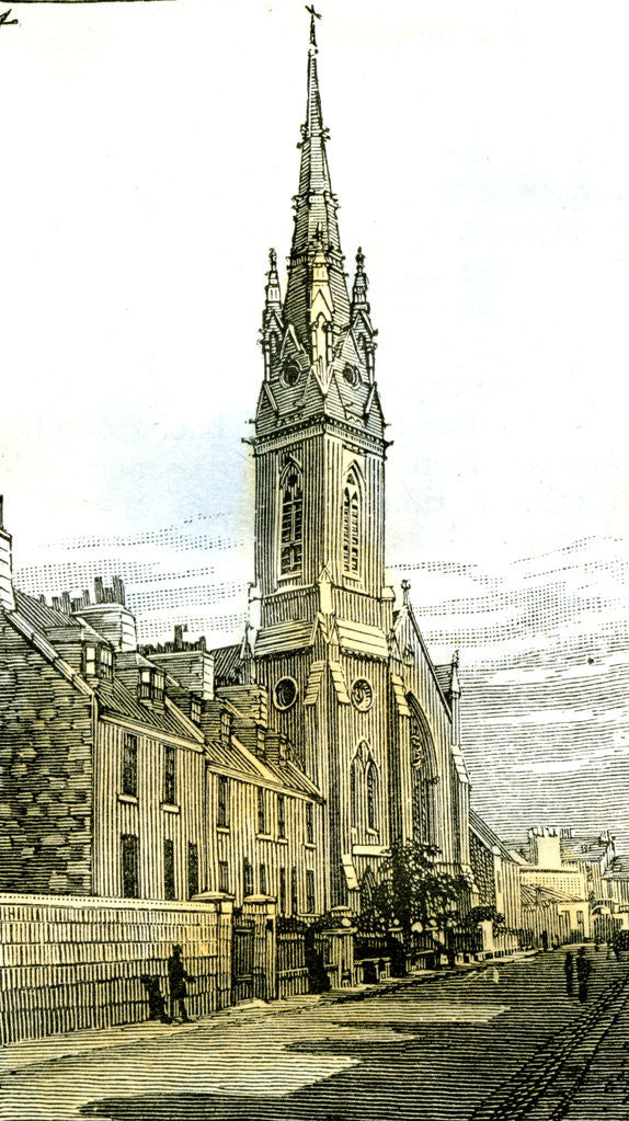Detail of Aberdeen the Roman Catholic Cathedral 1885 UK by Anonymous