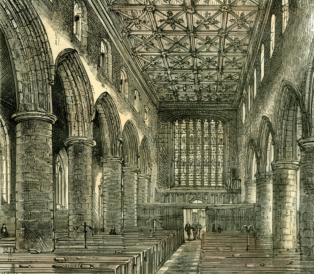 Detail of Aberdeen Old Machar Cathedral 1885 UK by Anonymous