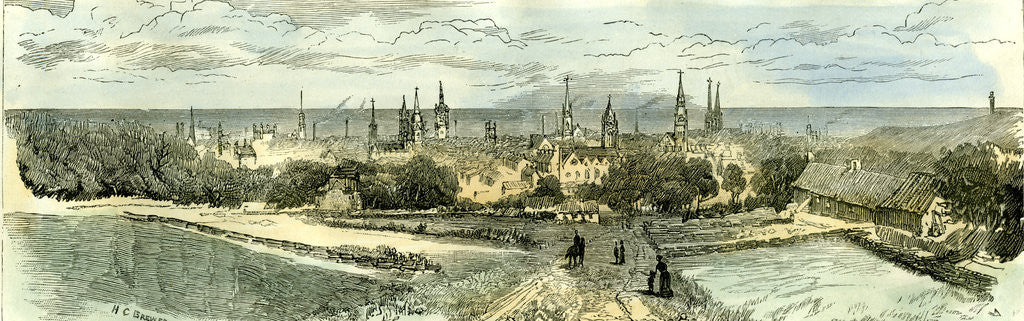 Detail of Aberdeen 1885 UK From the Rubislaw Road by Anonymous