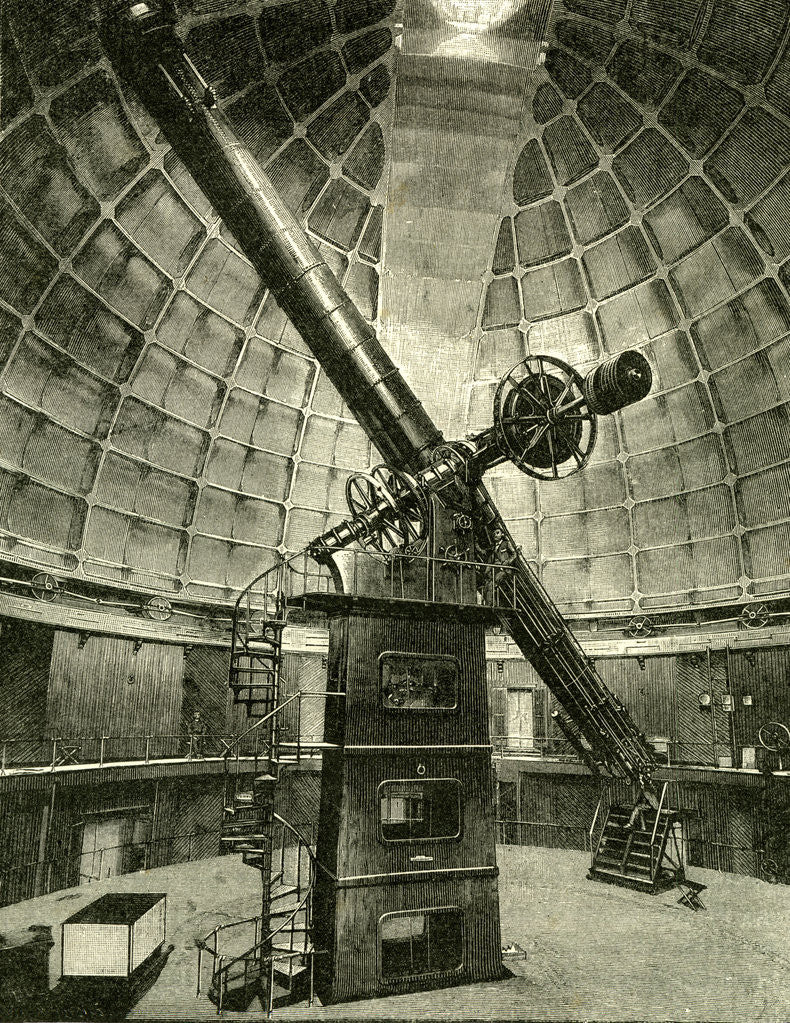 Detail of California the Largest Telescope in the World 1891 USA by Anonymous
