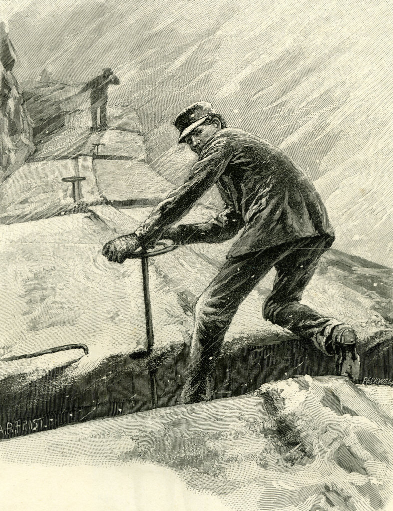 Detail of Hard Times on a Freight Train USA 1891 by Anonymous