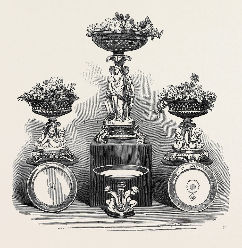 Detail of Dessert Service of Plate for Lord Northbrook Governor-General of India 1873 by Anonymous
