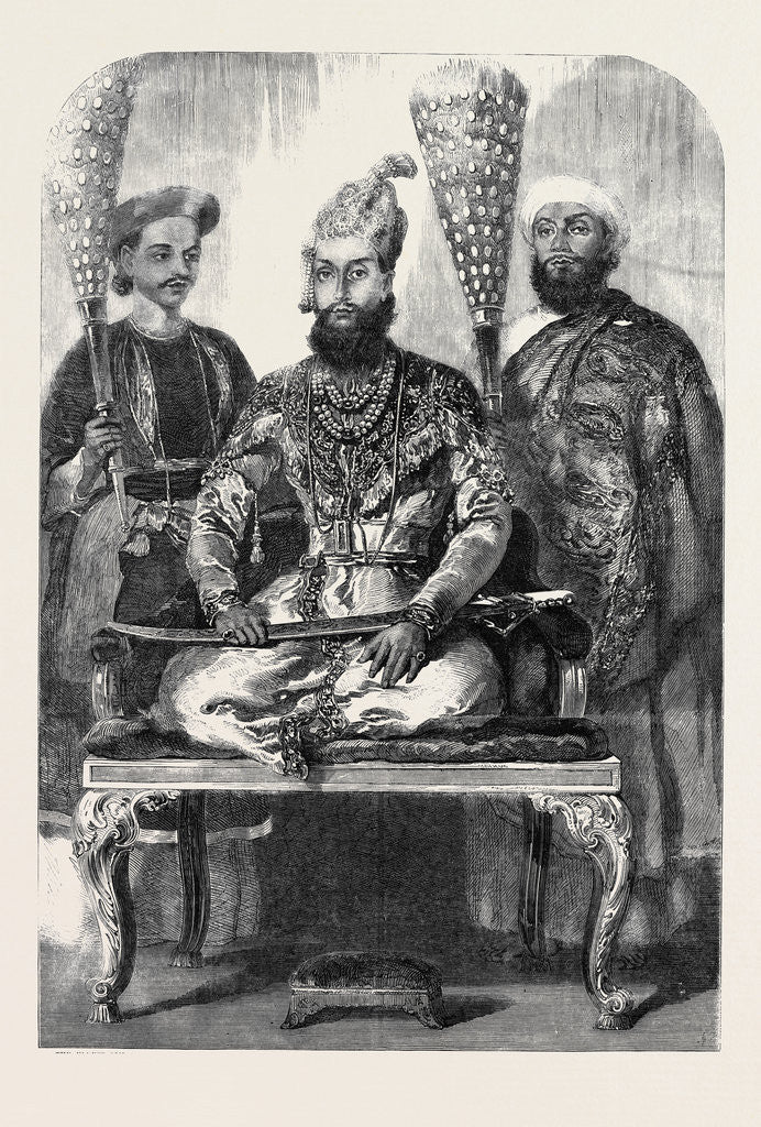 Detail of The Eldest Son of the King of Delhi His Treasurer and Physician from a Picture Painted in the Palace at Delhi by Mr. W. Carpenter by Anonymous