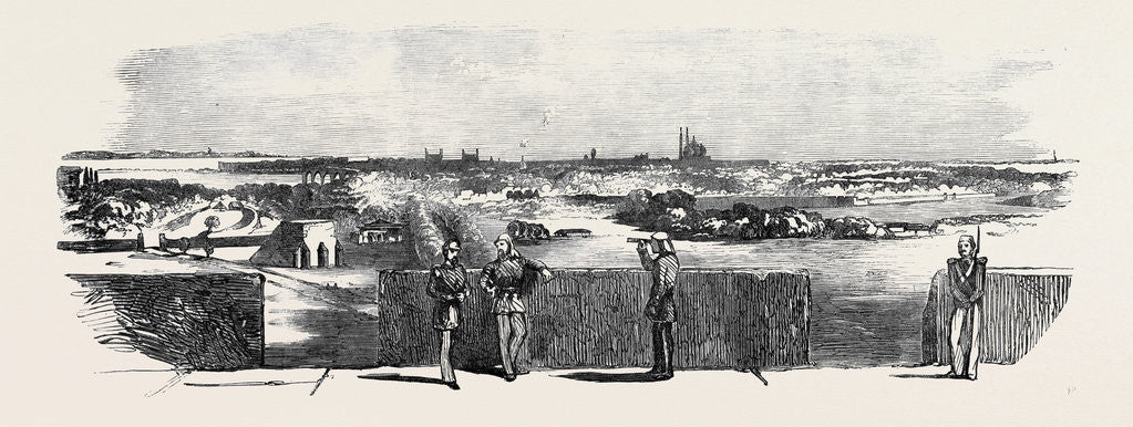Detail of The Mutiny in India: Delhi from the Flagstaff Tower Looking South East by Anonymous