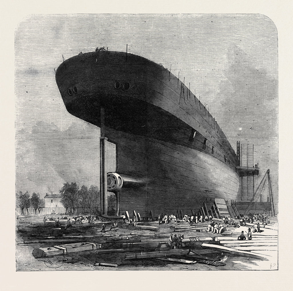 Detail of The Leviathan (Great Eastern) Steamship: Stern and Boss for the Blades of the Screw by Anonymous