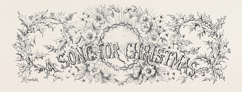 Detail of A Song for Christmas by Anonymous