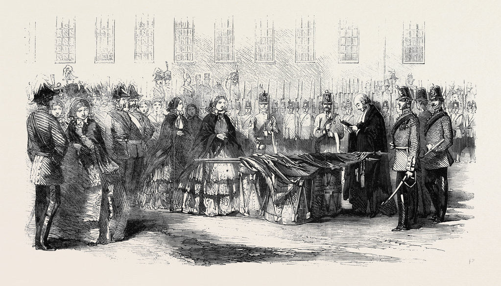 Detail of Presentation of Colours to the 14th Regiment by the Countess of Eglinton by Anonymous