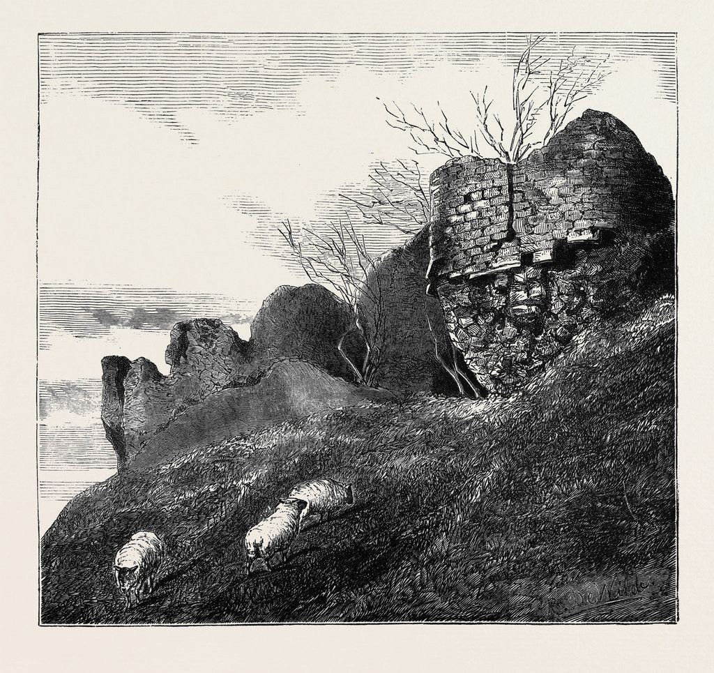 Detail of Ruins of Northampton Castle. by Anonymous
