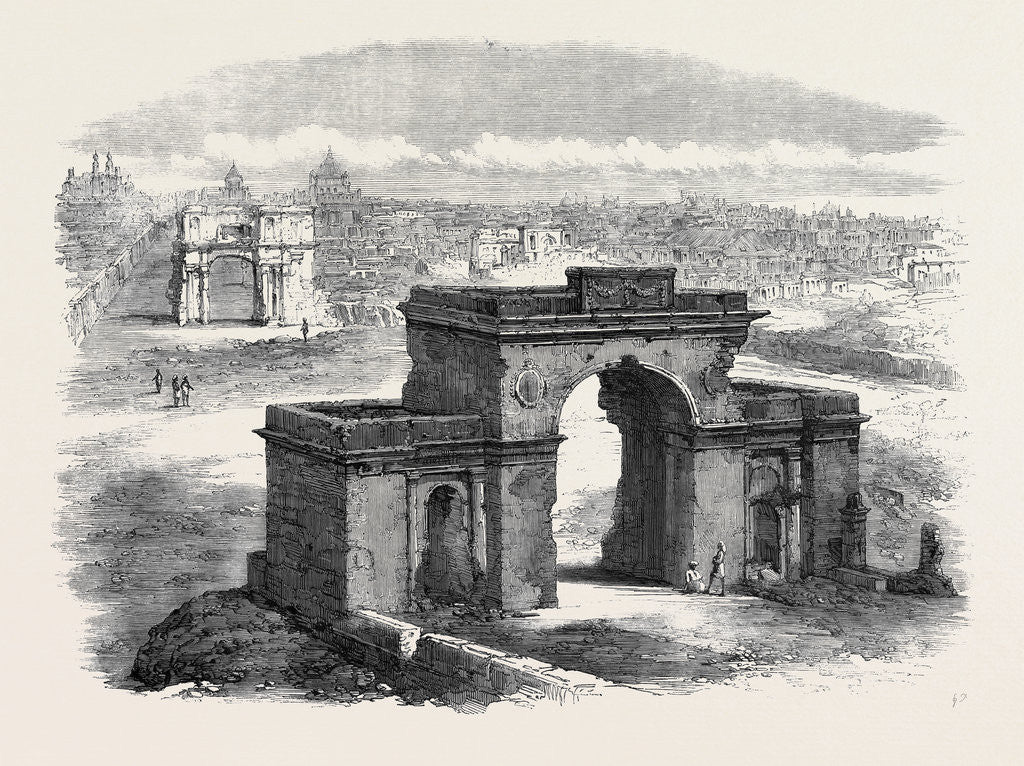 Detail of The Bailey Guard Gate Lucknow by Anonymous