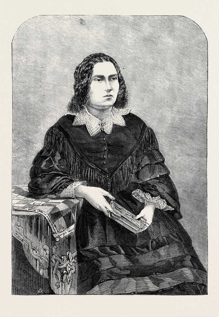Detail of Miss Edith Heraud from a Photograph by J.R. James by Anonymous