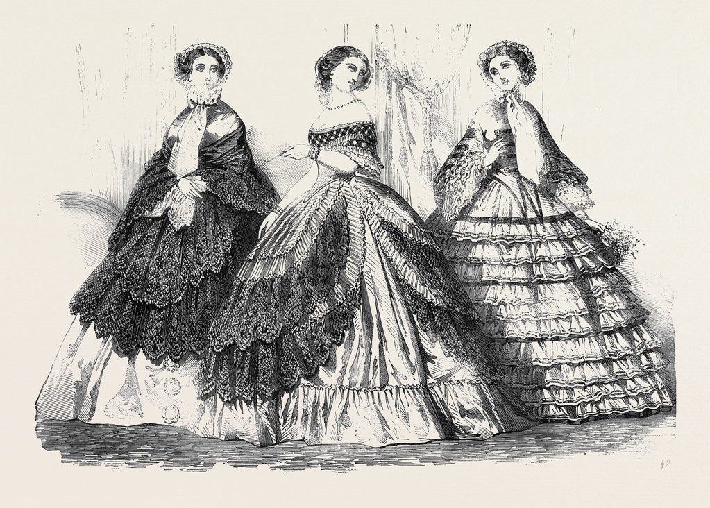 Detail of Paris Fashions for June. by Anonymous