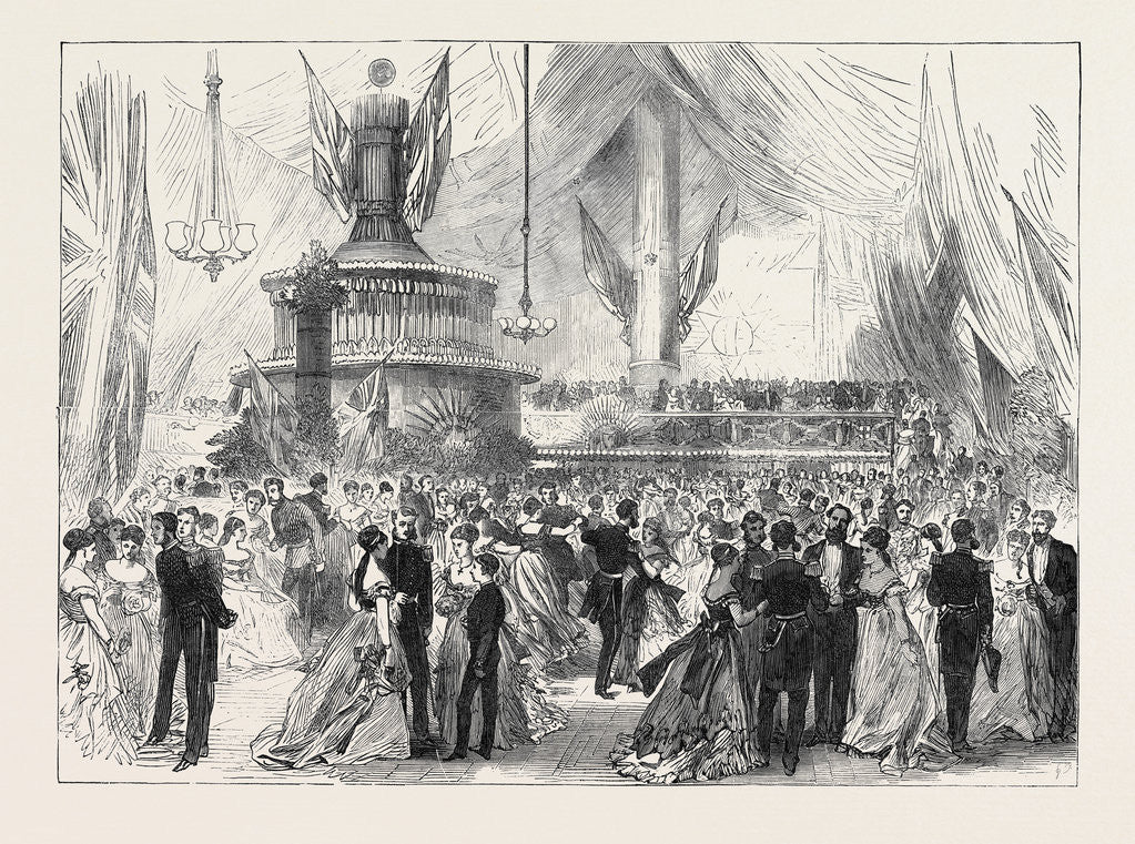Detail of New Year's Eve Ball on Board H.M.S. Caledonia at Malta 1869 by Anonymous
