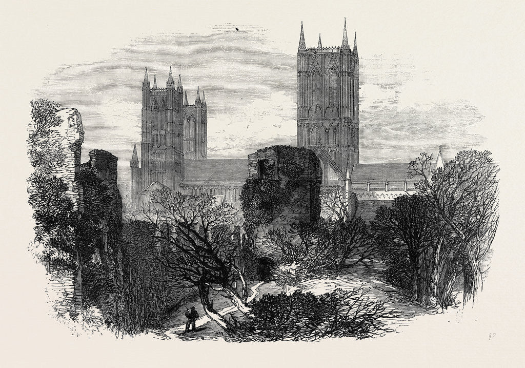 Detail of Ruins of the Bishop's Old Palace Lincoln 1869 UK by Anonymous