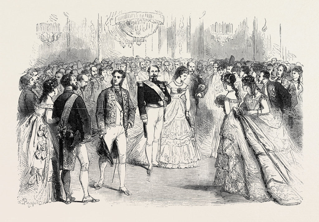 Detail of A State Ball at the Tuileries: Presentations to the Emperor and Empress Before the Ball Paris France 1869 by Anonymous