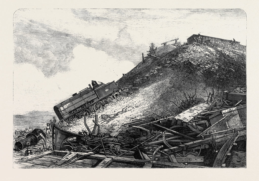 Detail of The Disaster on the Great Indian Peninsula Railway: Scene of the Accident 1869 by Anonymous