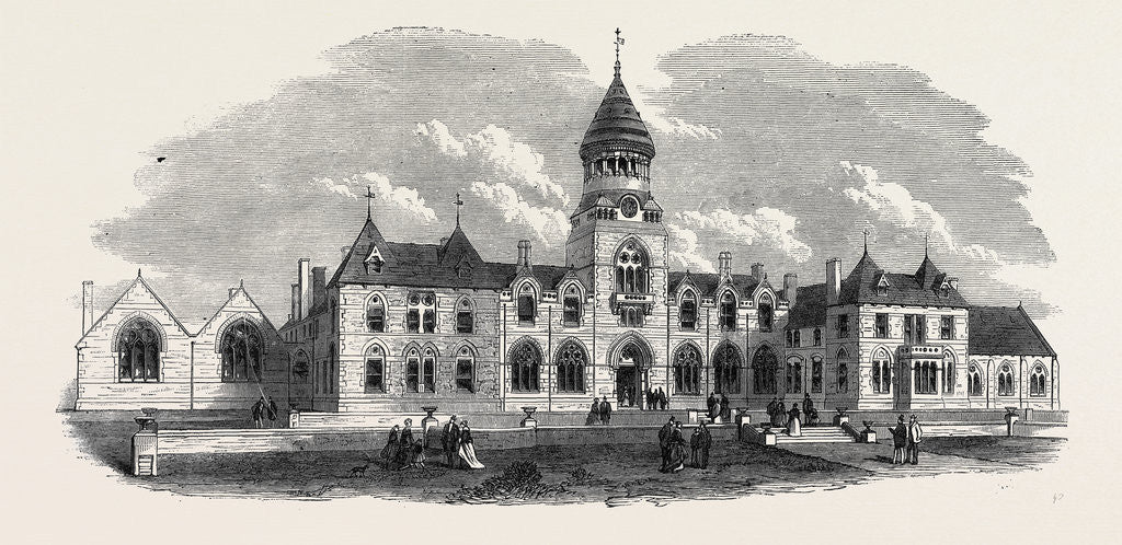 Detail of Wesleyan Methodist College Headingley Near Leeds UK 1869 by Anonymous