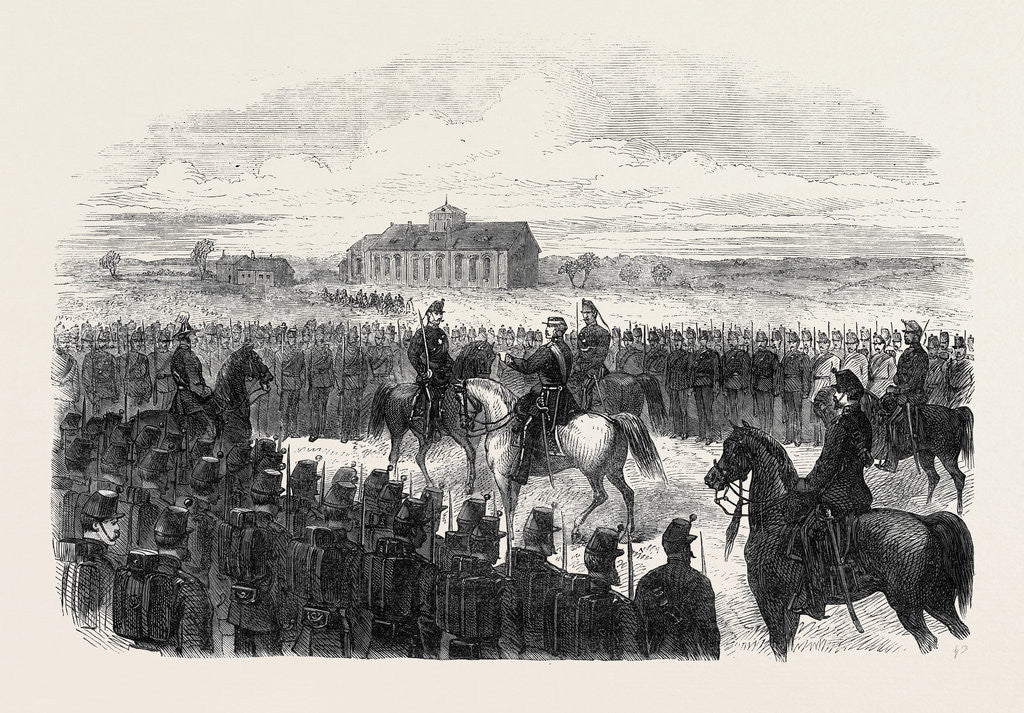 Detail of Inspection of the Essex Rifles (Militia) at Colchester UK 1869 by Anonymous