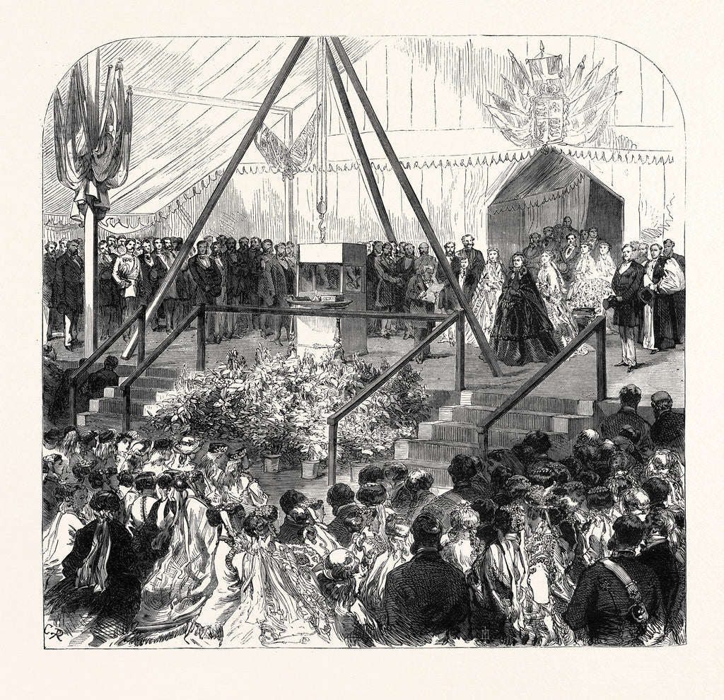 Detail of The Queen Laying the Foundation Stone of the New Ball of the Royal Albert Orphan Asylum at Bagshot 1867 by Anonymous