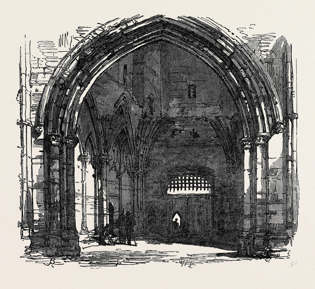 Detail of Bury St. Edmunds: Interior of the Abbey Gate 1867 by Anonymous