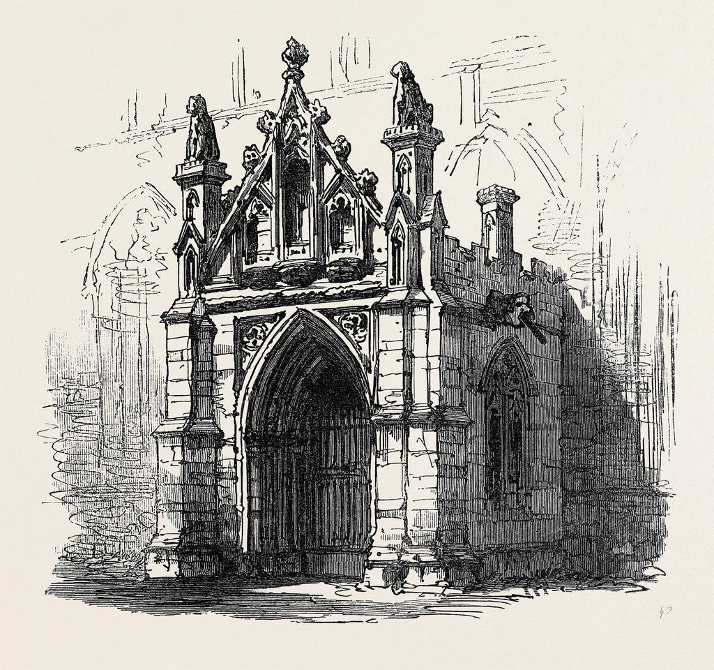 Detail of Bury St. Edmunds: Porch of St. Mary's Church 1867 by Anonymous