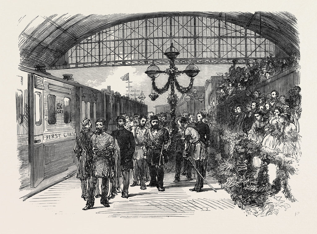 Detail of Arrival of the Sultan at the Charing Cross Terminus of the South Eastern Railway London UK 1867 by Anonymous