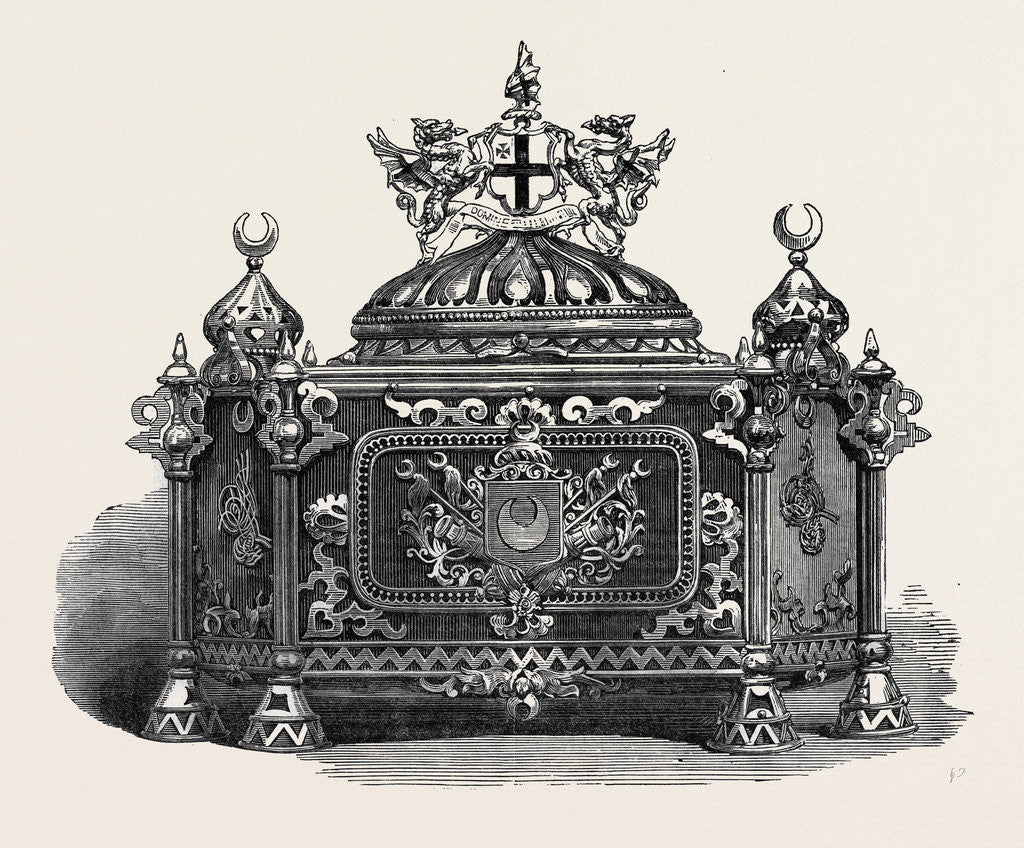 Detail of Casket in which the Address of the City Was Presented to the Sultan of Turkey at Guildhall UK 1867 by Anonymous