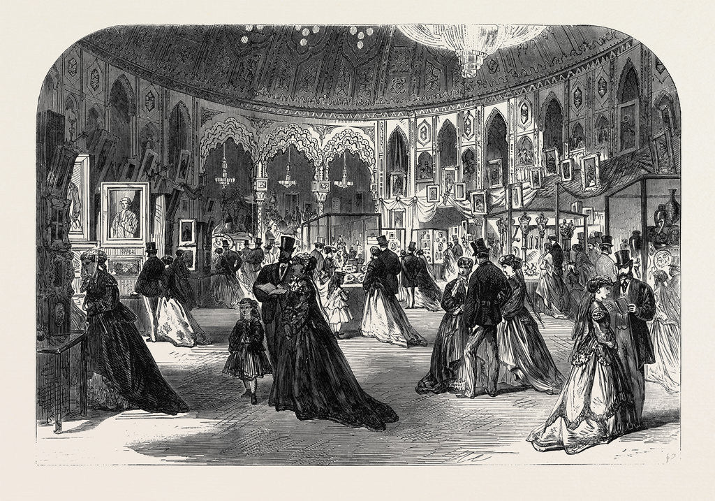 Detail of Southern Counties' Exhibition of Arts in the New Assembly Rooms at the Pavilion Brighton UK 1867 by Anonymous