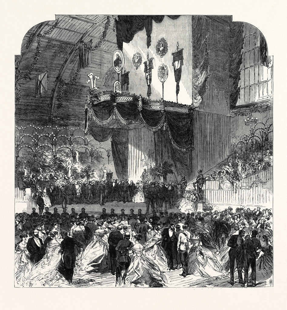 Detail of National Volunteer Ball at the Agricultural Hall: The Grand Dais 1867 by Anonymous