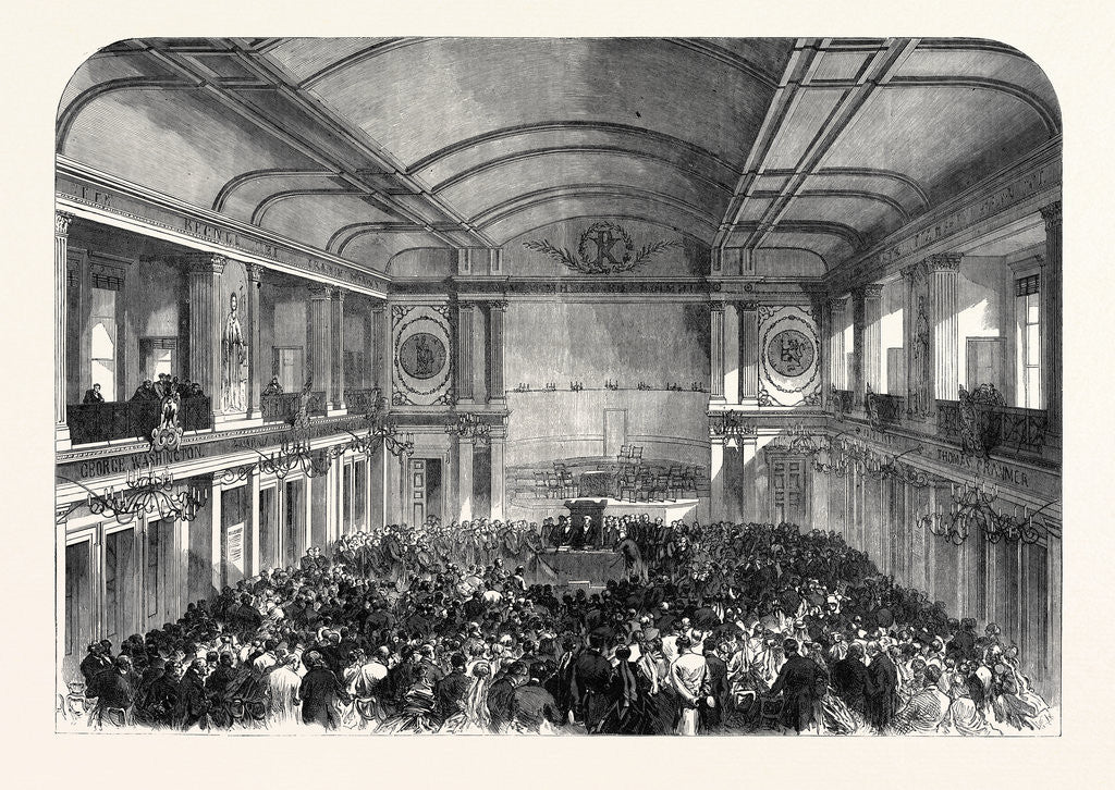Detail of Conference of the Evangelical Alliance at Amsterdam the Netherlands 1867 by Anonymous