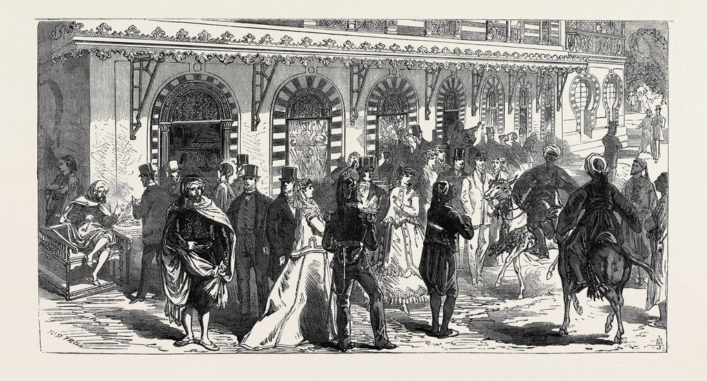 Detail of Row of Shops Beneath the Palace of the Bey of Tunis 1867 by Anonymous