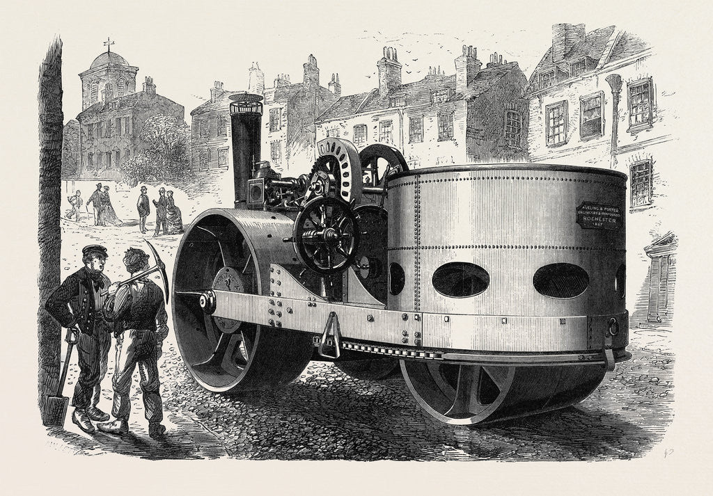 Detail of Steamroller for the Streets of Liverpool UK 1867 by Anonymous