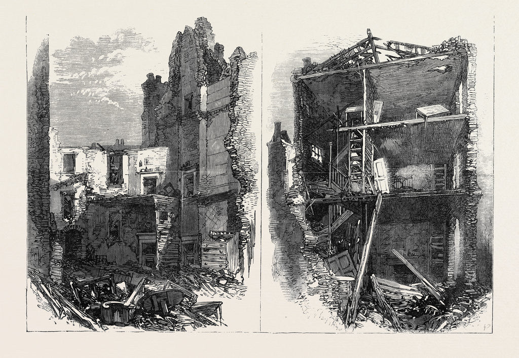 Detail of Effects of the Explosion at Clerkenwell: Interiors of Houses in Corporation Lane London UK 1867 by Anonymous