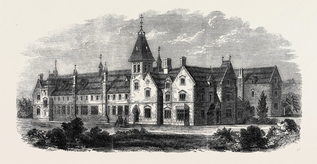 Detail of The Diocesan Training College Winchester Opened on Monday Week by the Bishop of Winchester October 25 1862 by Anonymous