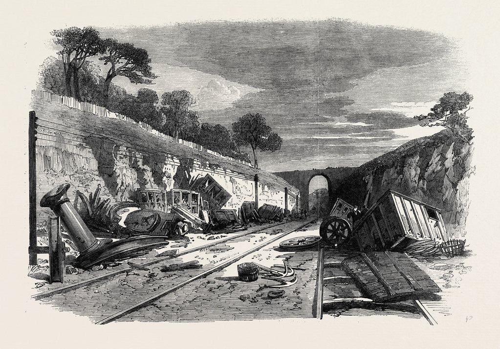 Detail of Scene of the Recent Railway Accident at Winchburgh on the Edinburgh and Glasgow Railway 25 October 1862 by Anonymous