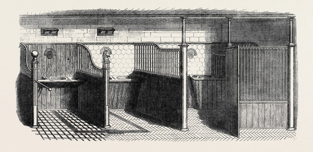 Detail of Stable Fittings, Open Stall with Patent Sliding Barrier by Anonymous