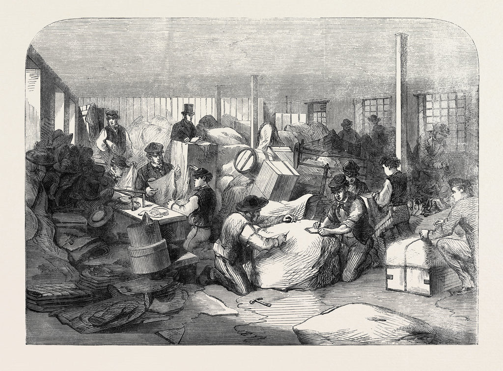 The Cotton Famine: Making Up Parcels of Clothing at the Industrial Institution Manchester 1862 by Anonymous