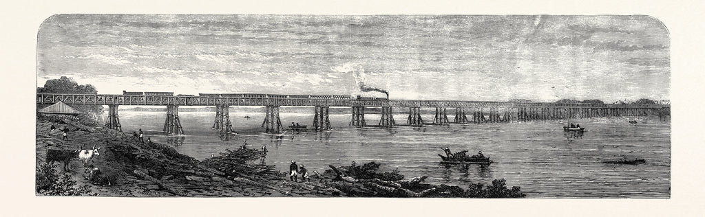 Detail of Viaduct Over the Taptee Near Surat for the Bombay Baroda and Central India Railway 1862 by Anonymous