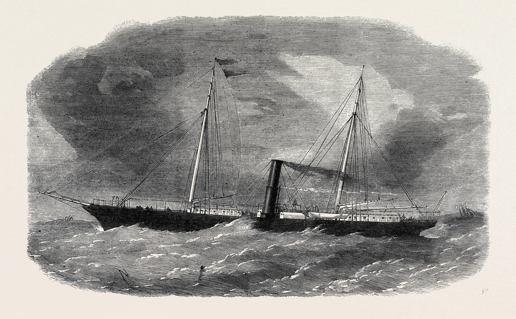Detail of Dudgeon's New Double Screw Iron Steamship Flora 1862 by Anonymous