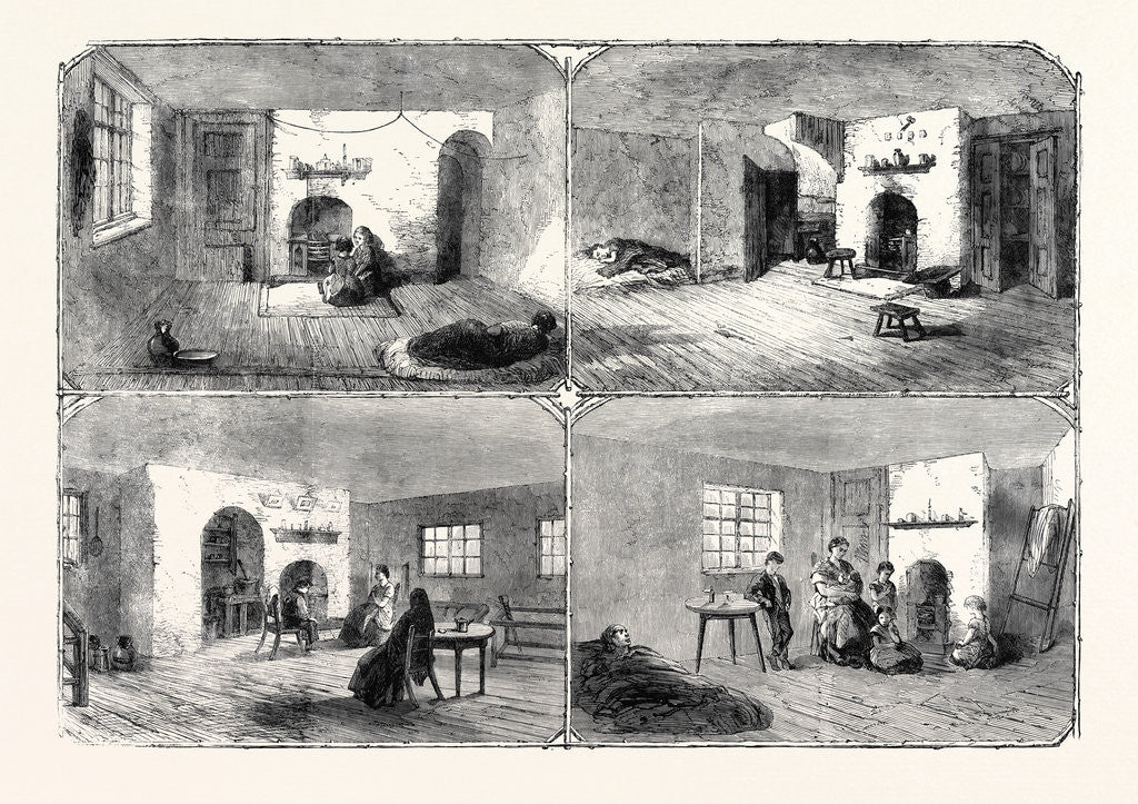 Detail of The Cotton Famine: Dwellings of Manchester Operatives 1862 by Anonymous
