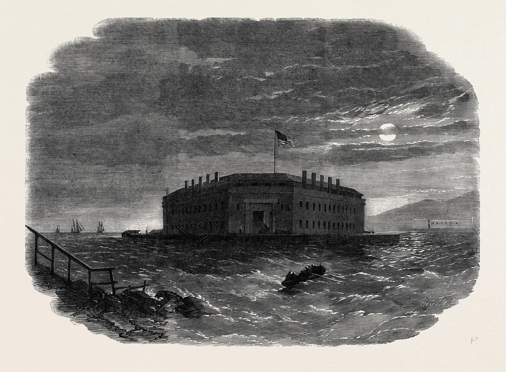 Detail of Fort Lafayette the Federal Bastille for Political Prisoners 1862 by Anonymous