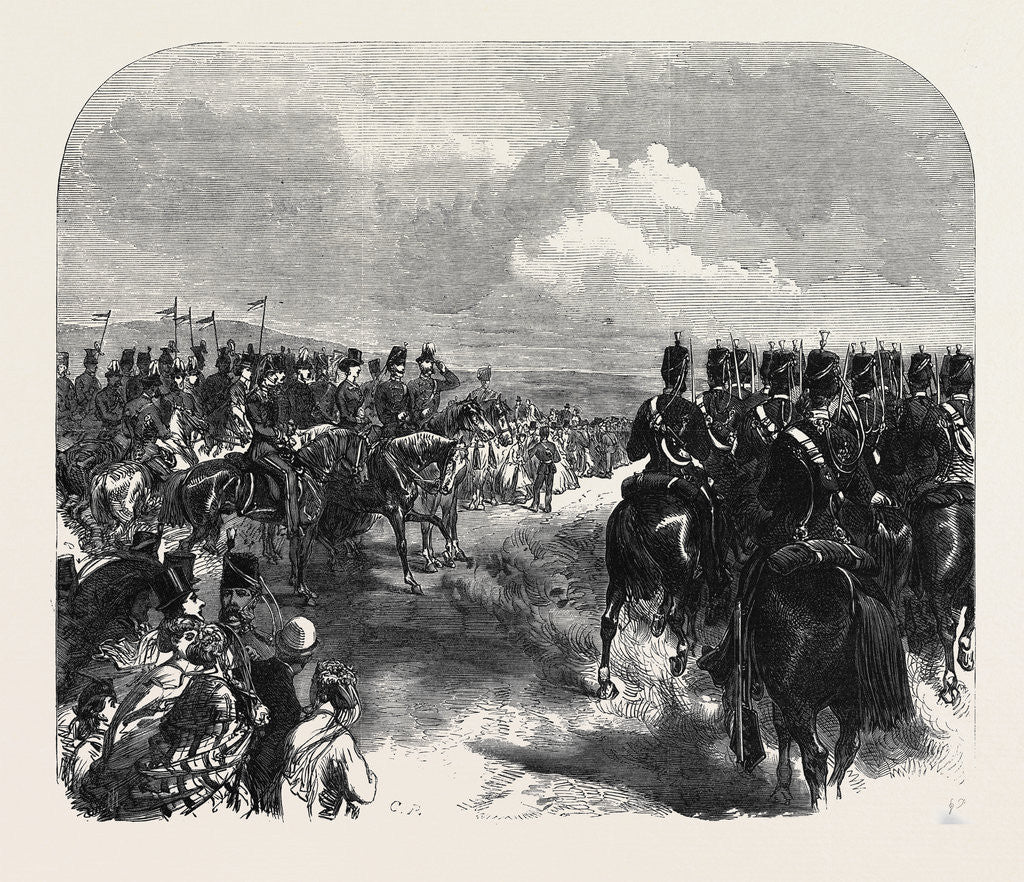 Detail of Field-Day at Aldershott: Cavalry Marching Past the Prince and Princess of Wales UK 1866 by Anonymous