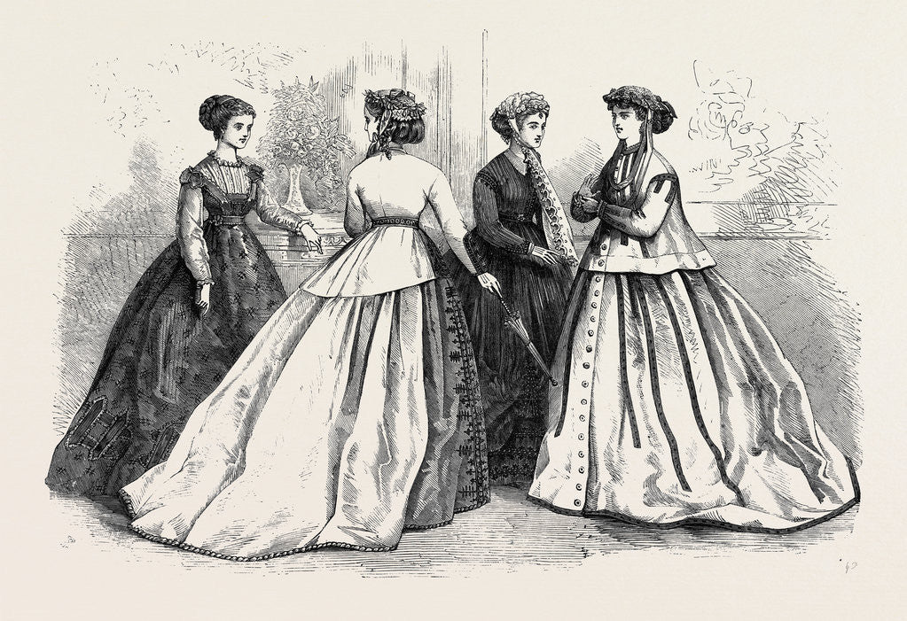 Detail of Paris Fashions for June 1866 by Anonymous