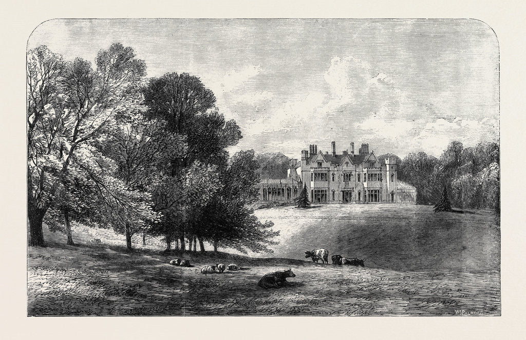 Detail of Titness Park Sunningdale Berkshire the Residence of the Prince and Princess of Wales Ascot Race Week UK 1866 by Anonymous