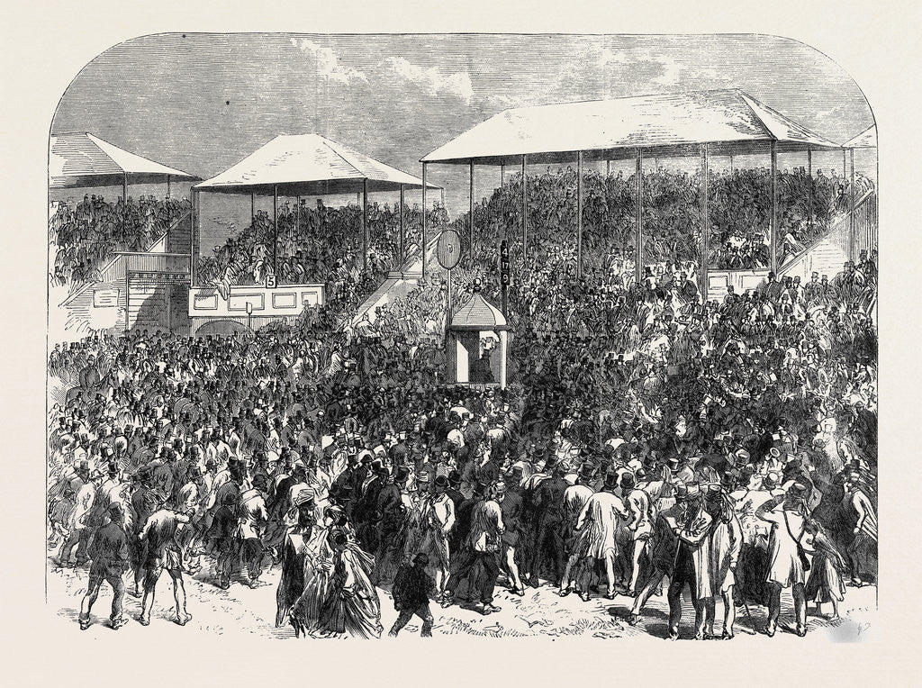 Detail of The Derby Day: Showing the Numbers UK 1866 by Anonymous